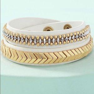 NWOT Stella & Dot Gilded Path Double Wrap Bracelet